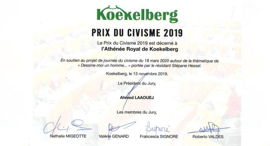 Titre: Prix du civisme 2019